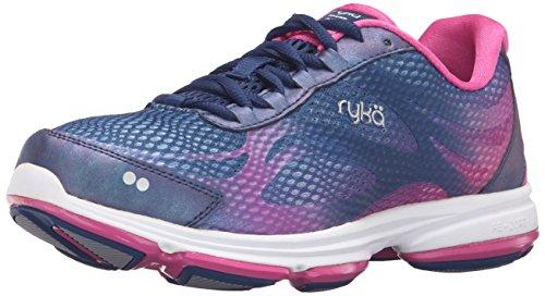 2w Womens Athletic Schuhe (Ryka Women's Devo Plus 2 Walking Shoe, Blue/Pink, 8 W US)