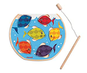 Janod 4507008 - Puzzle Fisch mit 1 Angelrute