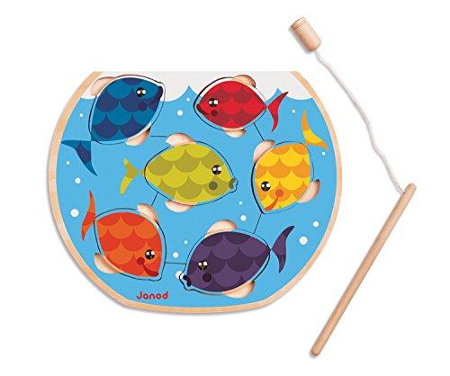 Janod J07008 - Puzzle a Incastro, Speedy Fish, Legno