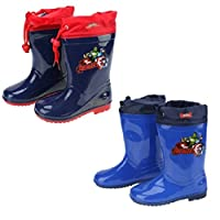 Marvel Avengers Wellies/Snow Boots With Toggle Tie Fabric Top