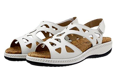 Scarpe donna comfort pelle PieSanto 1905 Sandali Plantare Estraibile larghezza speciale Tucson Blanco