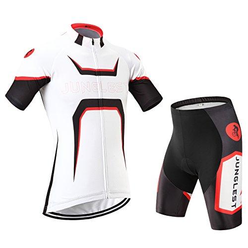 (taille:S~5XL)(option:Bretelle,3D 2.8cm Coussin)2015 Mode Maillots de cyclisme manches courtes ensemble pantalon ou bretelle Homme Sports de plein air respirant séchage rapide Outdoor Cyclin