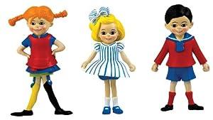 Glow2B Pippi Langstrumpf 44.3690.00 Pippi, Annika y Tom - Set de 3 Figuras