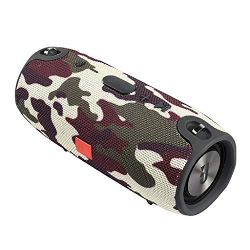 Musikbox Tragbarer Bluetooth-Lautsprecher Drahtlose Bass-Säule wasserdichte Unterstützung für Außenlautsprecher AUX TF USB-Subwoofer-Stereolautsprecher Teufel (Color : Camouflage)