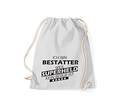 Shirtstown Borse palestra Sono Undertaker, perché Super eroe niente Occupazione è - Viola, 37 cm x 46 cm Grigio Chiaro