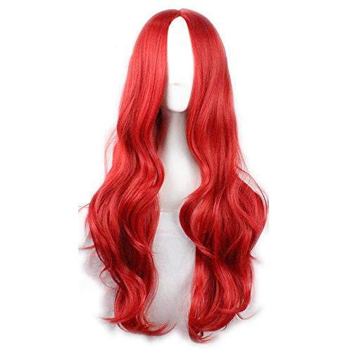heißer Verkauf rote Farbe synthetische billige Cosplay Perücken für Frauen Party Perücken Halloween