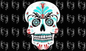 SoCal Flaggen Sugar Skull Flagge aus Polyester, 91 x 152 cm, verkauft von A Proud American Company, langlebiges 100D-Material, Nicht durchsehen wie andere Marken, Wetterfest (Halloween-film Woche Der)