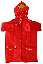 My Baby Things Unisex Polyester Raincoat (Red, 5-6 Years)