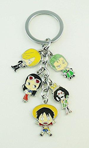 Preisvergleich Produktbild Schlüsselanhänger ONE PIECE Brook Zoro Luffy Robin Sanji