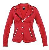 Horka Junior ligero Softshell Stretch Strass hípica competencia chaqueta, rojo