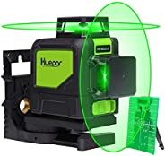 Self-Leveling Green Laser Level - Huepar 902CG Green Beam Cross Line Laser 360° Coverage Horizontal and Vertic