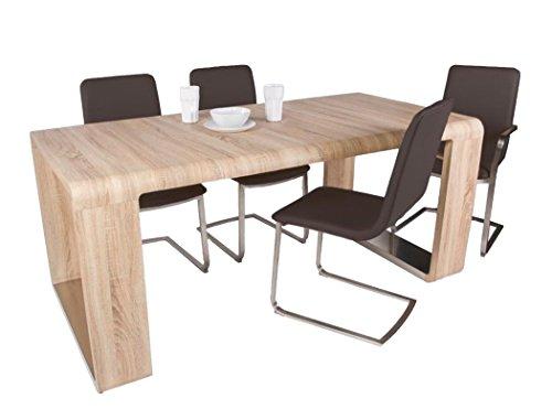 expendio Esstisch Marlon Sonoma Eiche 100(180) x90x78 cm Esszimmertisch Küchentisch Tisch Speisetisch