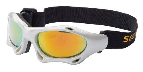it Band skibrille kitebrille Sportbrille zum Wintersport, Kitesurfen oder Wassersport, silber / rot verspiegelt Art. 7039-2 ()