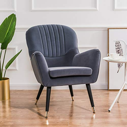 G'z Lounge Accent Stühle für Wohnzimmer gepolstert weichen und Breiten Sitz Massivholz Beine und Armlehne Schlafzimmer Mid-Century Büro Einzelsofa Erwachsene Männer Womens Möbel Dekoration -