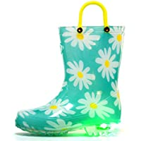 Outee Kids Light Up Wellies with Easy On Handles
