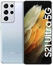 Samsung S21 Ultra 5G, Android Smartphone ohne Vertrag, Quad-Kamera, Infinity-O Display, 128 GB Speicher, leist