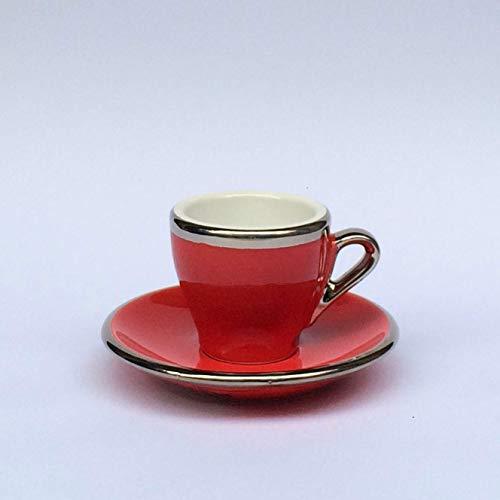 Espresso Tasse Rot Terra Keramik