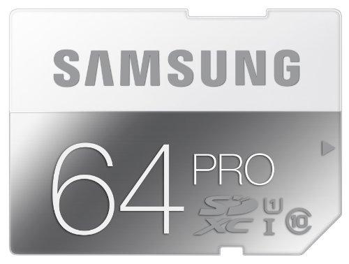 Samsung Speicherkarte SDXC 64GB PRO UHS-I Grade 1 Class 10 (bis zu 90MB/s lesen, bis zu 80MB/s schreiben)