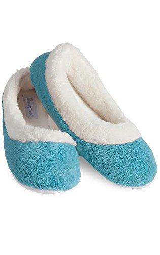 PajamaGram Zapatillas de estar por casa para mujer - Forro polar ultrasuave - Verde - 38-39