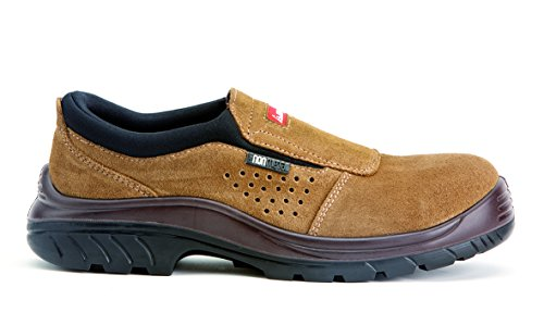 Bellota Non Metal 7227 S1P SRC- Zapatos sin Cordones, Color marrón, Talla 43