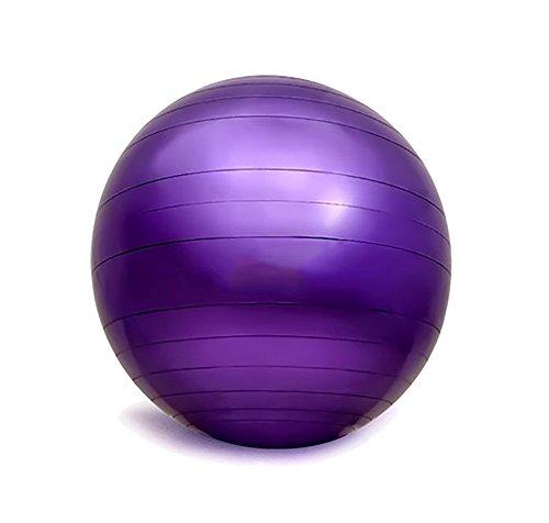 RUIX Gymnastikball (Berstsicher, Fitness-Ball, Sitzball, Yogaball, Pilates-Ball, Balance),Purple,L