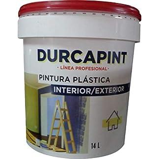 Durcaplast Mate Seda Vinilico: Pintura plástica blanco mate económica. De uso interior, con buen anclaje, buena cubrición, excelente blancura y alta transpirabilidad. (4L (6Kg))