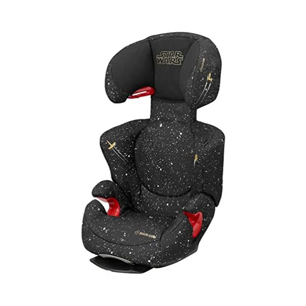 Maxi-Cosi Rodi AirProtect Child Car Seat, Lightweight Highback Booster, 3.5-12 Years, 15-36 kg, Star Wars Maxi-Cosi Child car seat, suitable from 3.5 to 12 years (15-36 kg) Easily install this safe car seat with a three point seat belt and attach the anchorage point in the head rest through your cars head rest Patented AirProtect technology in headrest reduces the risk of head and neck injuries up to 20 percent 1