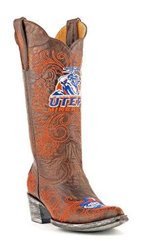 Gameday Boots NCAA Texas EL Paso Miners Women's 13-Inch, Brass, 9.5 B (M) US