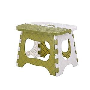 kabinga YM 100 plástico Simple, Banco pequeño de baño, Taburete de Pesca Plegable portátil para Adultos al Aire Libre para niños, Verde, Unisex-Youth, M