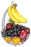 Dongjiang Roselife bananenhalter,Grape obstkorb,Metall obstkorb,Obstkorb,faltkorb,bananaen Stander,Obst Aufbewahrung Silber Schüssel,Chrom Finish 30.5X 30.5 x 42 cm Silber