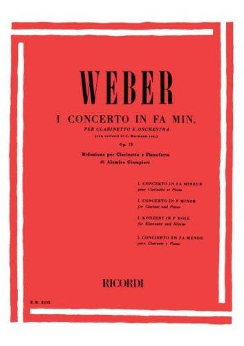 Concerto N. 1 in Fa Min. Op. 73 Clarinette