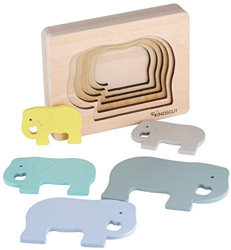 Kindsgut Tier-Puzzle, Holz-Puzzle, Baby, Elefant