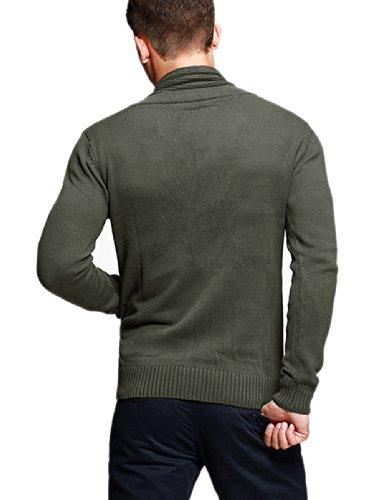 Match Herren Sweatshirt Strickjacken #1611 12088 Armee gruen