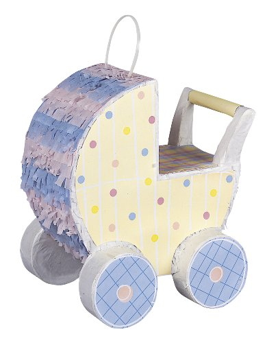 Unique Party Supplies Piñata in Kinderwagenform für Babyparty (Spa Party Supplies)