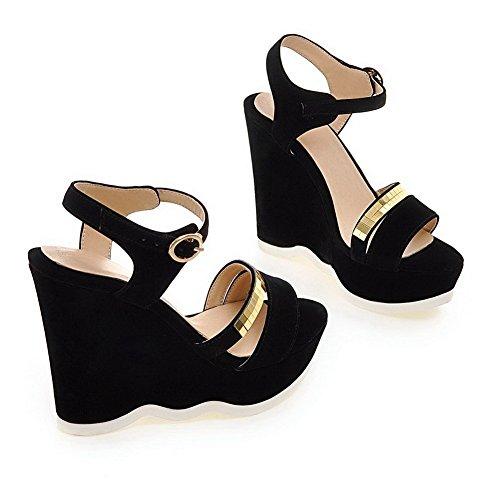 BalaMasa-Paillette da donna, a punta aperta, pompe-Shoes Black