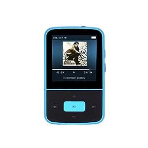 AGPTek Nouvelle Version G05 Lecteur MP3 8Go avec Pince, Ecran en couleur, Bleu (Supporte la carte mémoire jusqu'à 64Go)