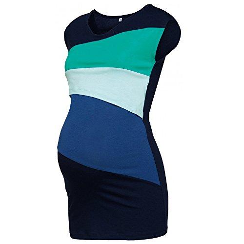 QinMM M-Frauen Mutterschaft Stitching Kurzarm Top - Schwangere Frauen-Pyjamas Still-Pyjamas Schwangere Frauen Ärmelloses Stillkleid und Stillen