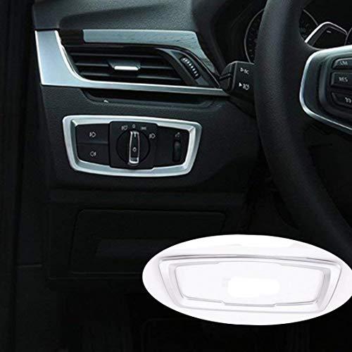 Carbon ABS Chrome à l'intérieur accessoire de phare commutateur Dframe Cadre de décoration Garniture Housse Autocollant pour X1 F48 2016 2017