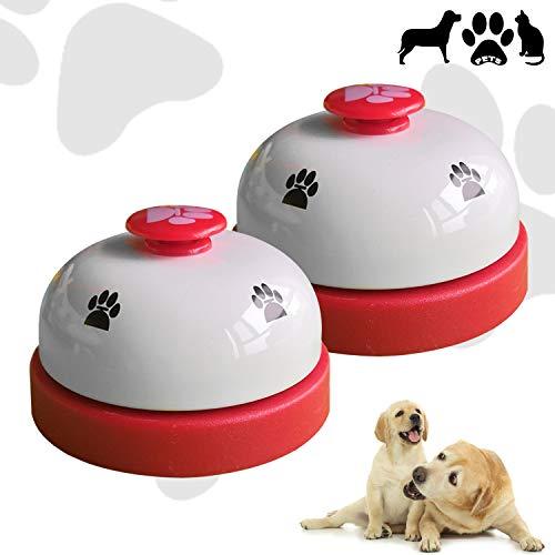 CUKCIC Haustier Glocke Tisch Glocke Pet Bell zum Katze Hund Töpfchen Ausbildung Fütterung (Hund Töpfchen Bell)