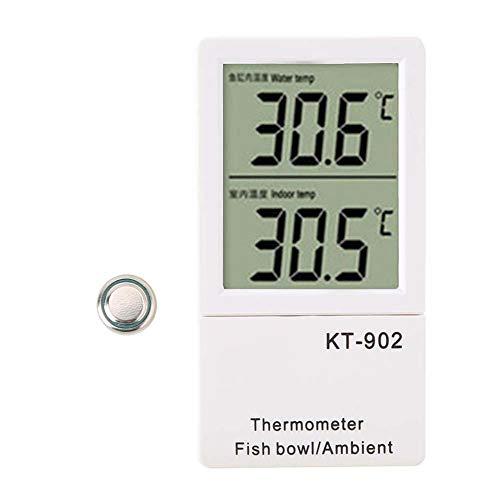 Pssopp Aquarium Thermometer Digitale Thermometer LED Temperatur Meter Intelligentes Raumthermometer Wasser Thermometer für Aquarium Teich Reptil Schildkröten -