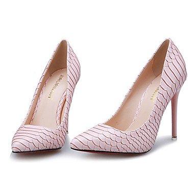 Moda Donna Sandali Sexy donna caduta tacchi Comfort PU Casual Stiletto Heel altri nero / rosa / Bianco / argento altri Silver