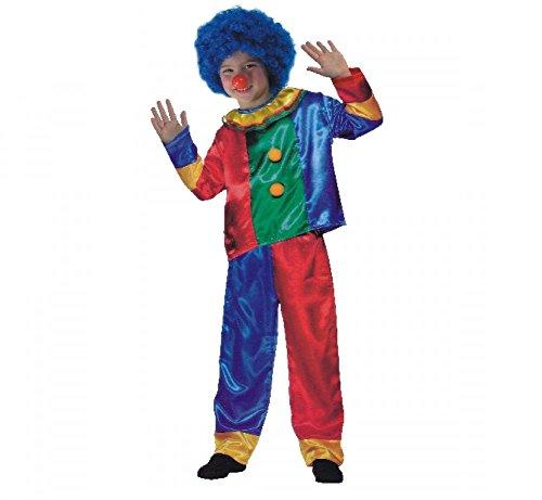 Fair costume di carnevale completo clown unisex travestimento da pagliaccio shoponline (5-7 anni)