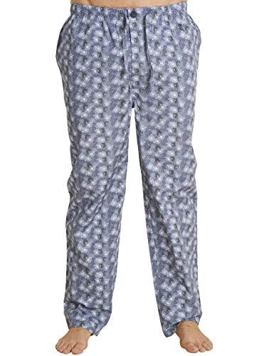 El Búho Nocturno - Herren Lange Pyjamahose mit Bedruckte Einräder | Schlafanzughose, Klassische Nachtwäsche für Herren - Popeline, 100{3e4b6e03e6774bec8be5e716359f3cc35463098da619a21b7cf809543a87d537} Baumwolle - Größe XL - Dunkelblaue