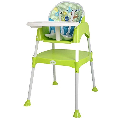 HOLME'S Little Miracle Beautiful-The Convertible Baby High Chair Study Table Feeding Chair (with Cushion) Color - Random