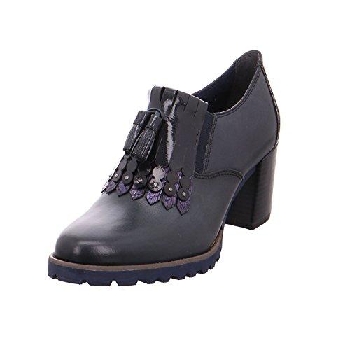Tamaris Damen Hochfrontpumps blau Leder Größe 36-41 Touch-it Fußbett, Damen Größen:39, Farben:blau