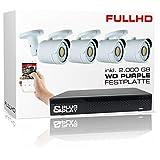 Longse - Videoüberwachung Set mit 4X FullHD Kameras und 2000GB IP-AHD-Rekorder inkl. Zubehör und Software - LGPRSET42000