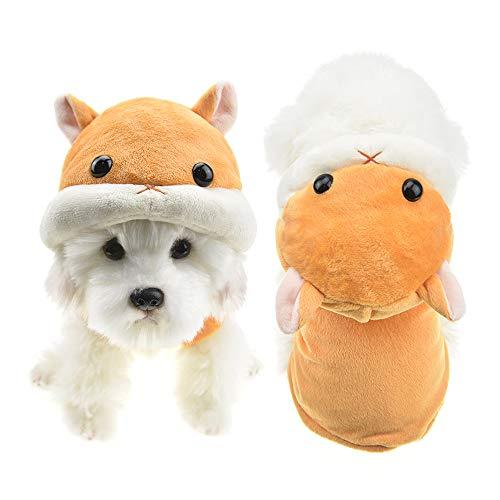 FLAdorepet süßes Hamster-Kostüm für Hunde, Winter, Fleece, Mantel für Katzen und Chihuahua, Yorkie