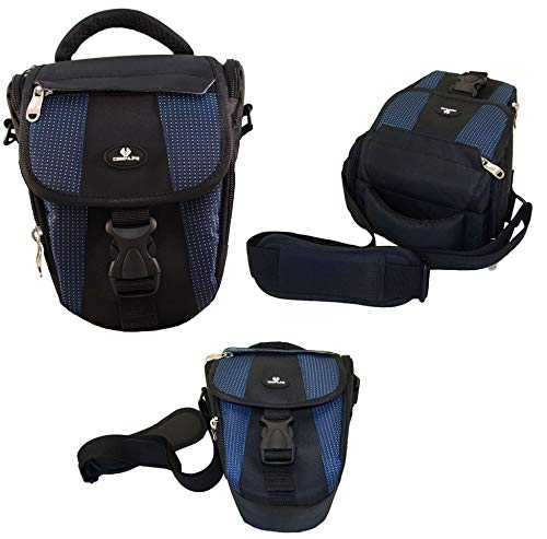 Case4Life Negro/Azul Funda Bolsa cámaras