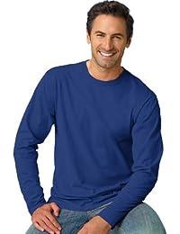 Hanes TAGLESS T-shirt Nano-T Men's T-Shirt à manches longues