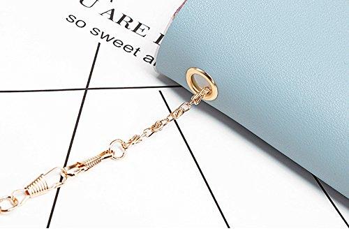 Damen Handytasche Münztüte Spiegel Reflektierenden Stil Mini Kette Crossbody Umhängetasche Blau